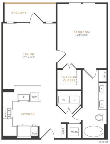 Alexan Memorial One Bedroom Floor Plan A10