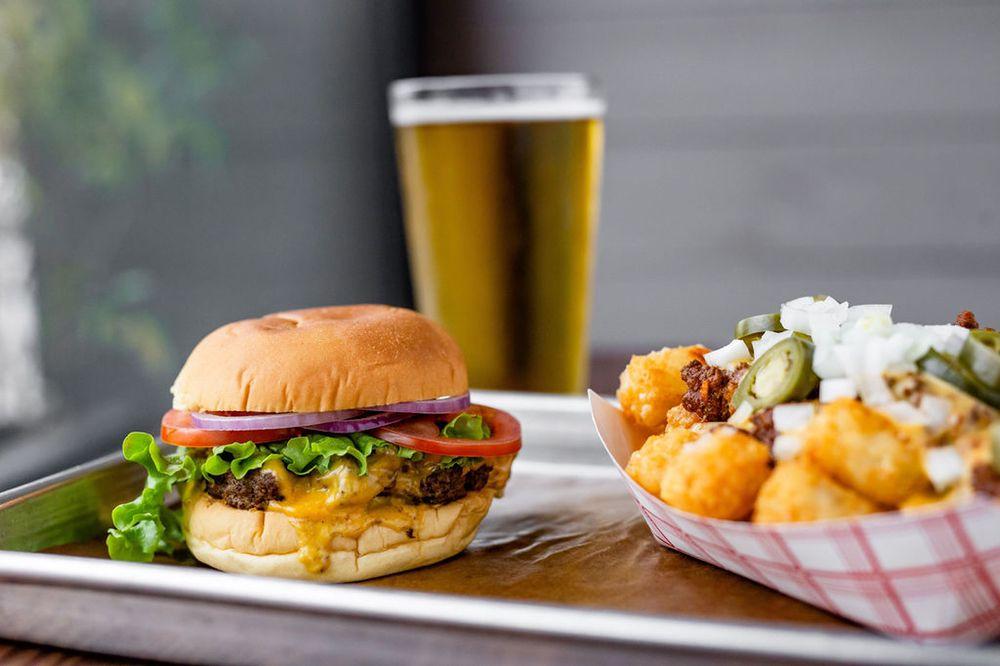 Burger, tots, and cold beer - FM Kitchen & Bar near Alexan Memorial